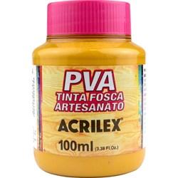 Tinta PVA Fosca para Artesanato Acrilex 100mL Amarelo Ocre