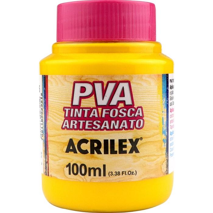 Tinta PVA Fosca para Artesanato Acrilex 100mL Amarelo Ouro