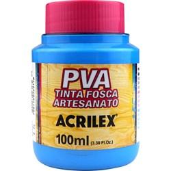 Tinta PVA Fosca para Artesanato Acrilex 100mL Azul Celeste