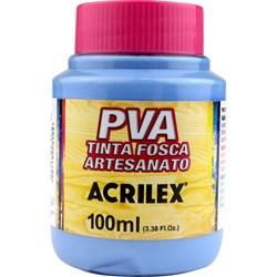 Tinta PVA Fosca para Artesanato Acrilex 100mL Azul Inverno