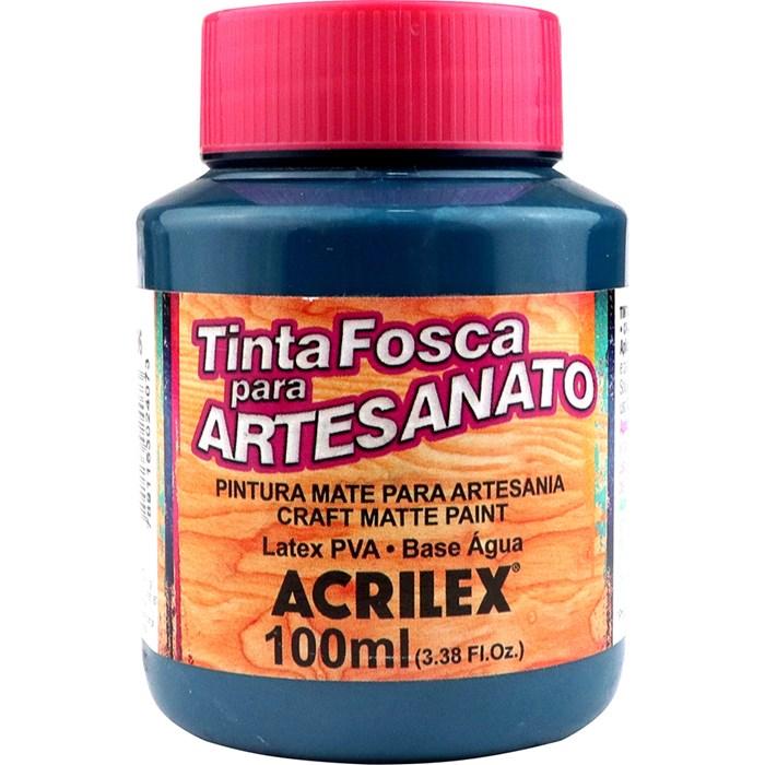 Tinta PVA Fosca para Artesanato Acrilex 100mL Azul Petróleo