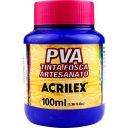 Tinta PVA Fosca para Artesanato Acrilex 100mL Azul Ultramar