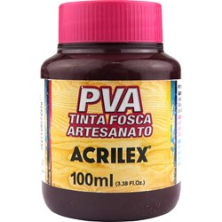 Tinta PVA Fosca para Artesanato Acrilex 100mL Bordeaux