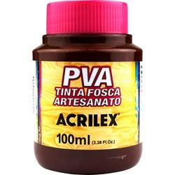 Tinta PVA Fosca para Artesanato Acrilex 100mL Chocolate