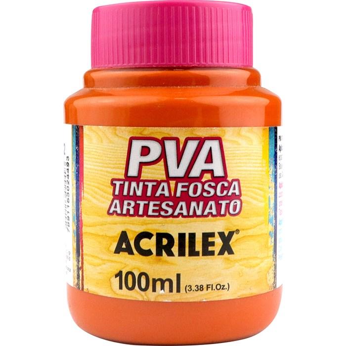 Tinta PVA Fosca para Artesanato Acrilex 100mL Laranja Escuro