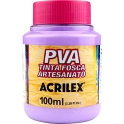 Tinta PVA Fosca para Artesanato Acrilex 100mL Lilás
