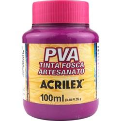 Tinta PVA Fosca para Artesanato Acrilex 100mL Magenta