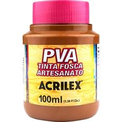 Tinta PVA Fosca para Artesanato Acrilex 100mL Marrom