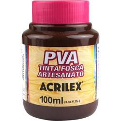 Tinta PVA Fosca para Artesanato Acrilex 100mL Marrom Escuro