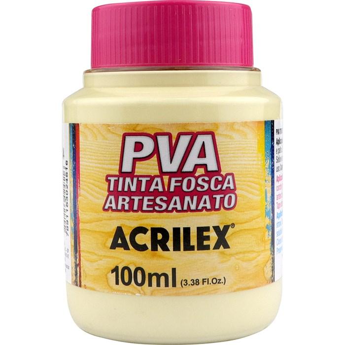 Tinta PVA Fosca para Artesanato Acrilex 100mL Palha