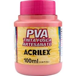 Tinta PVA Fosca para Artesanato Acrilex 100mL Rosa Antigo