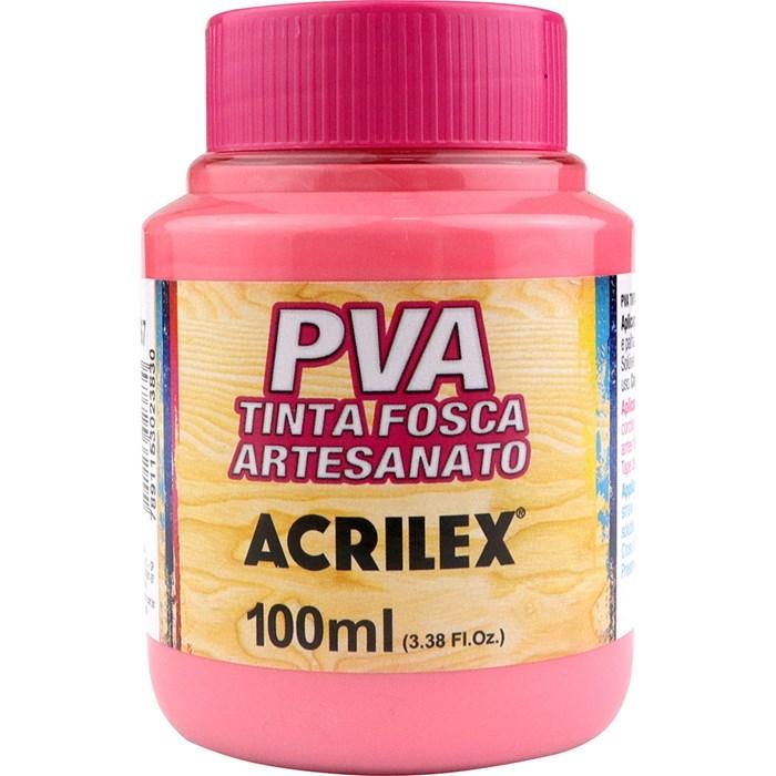 Tinta PVA Fosca para Artesanato Acrilex 100mL Rosa Chá