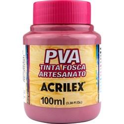 Tinta PVA Fosca para Artesanato Acrilex 100mL Rosa Ciclame
