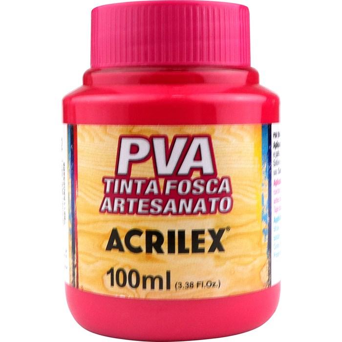 Tinta PVA Fosca para Artesanato Acrilex 100mL Rosa Escuro