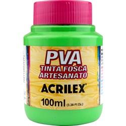 Tinta PVA Fosca para Artesanato Acrilex 100mL Verde Folha