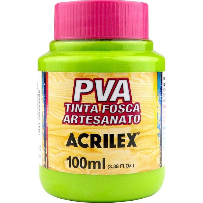 Tinta PVA Fosca para Artesanato Acrilex 100mL Verde Maçã