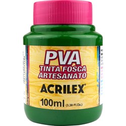 Tinta PVA Fosca para Artesanato Acrilex 100mL Verde Musgo