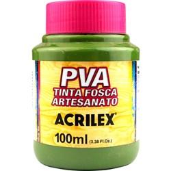 Tinta PVA Fosca para Artesanato Acrilex 100mL Verde Oliva
