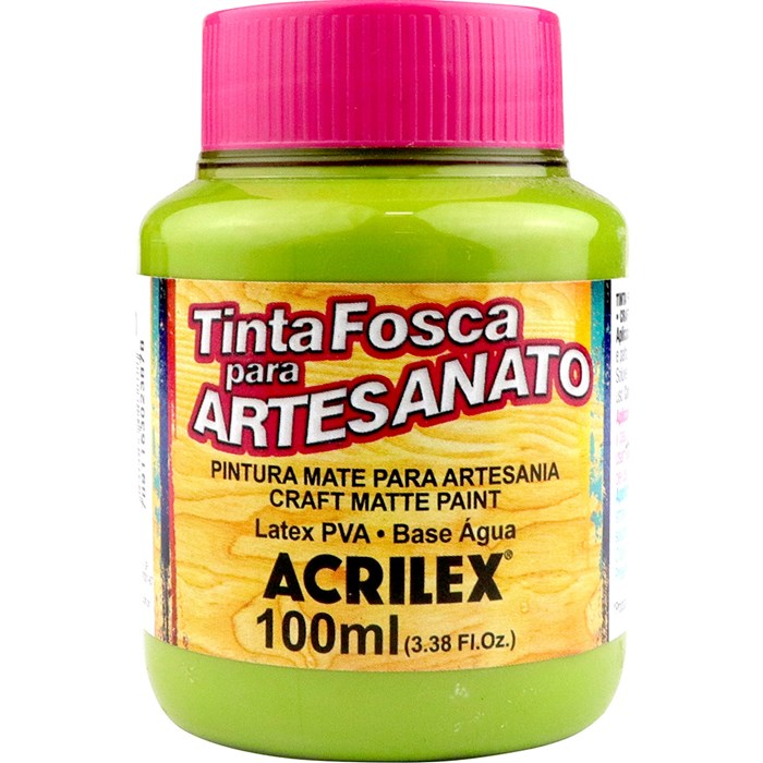 Tinta PVA Fosca para Artesanato Acrilex 100mL Verde Pistache