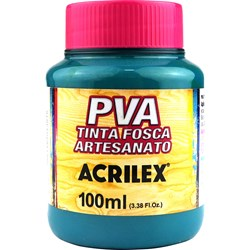 Tinta PVA Fosca para Artesanato Acrilex 100mL Verde Vivo