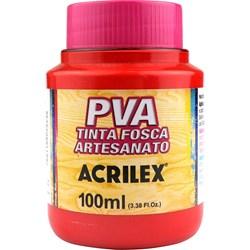 Tinta PVA Fosca para Artesanato Acrilex 100mL Vermelho Fogo