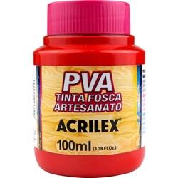 Tinta PVA Fosca para Artesanato Acrilex 100mL Vermelho Vivo