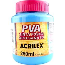 Tinta PVA Fosca para Artesanato Acrilex 250mL - 503 Azul Celeste