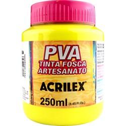 Tinta PVA Fosca para Artesanato Acrilex 250mL - 504 Amarelo Limão