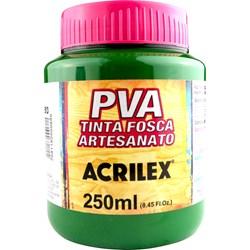 Tinta PVA Fosca para Artesanato Acrilex 250mL - 513 Verde Musgo