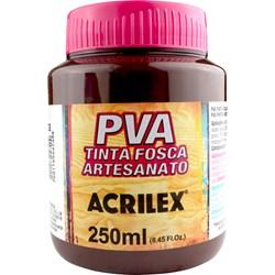 Tinta PVA Fosca para Artesanato Acrilex 250mL - 526 Marrom Escuro