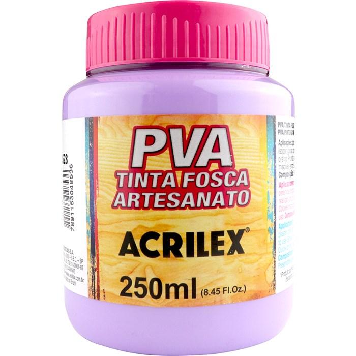 Tinta PVA Fosca para Artesanato Acrilex 250mL - 528 Lilás