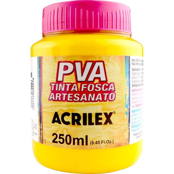 Tinta PVA Fosca para Artesanato Acrilex 250mL Amarelo Ouro