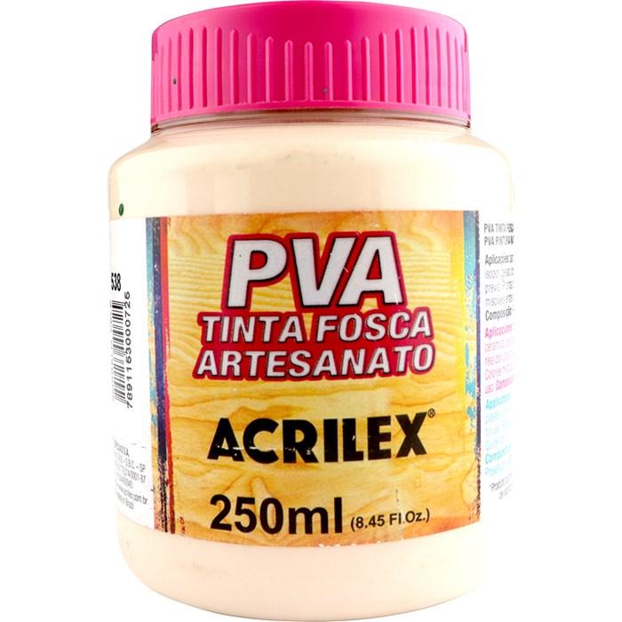 Tinta PVA Fosca para Artesanato Acrilex 250mL Amarelo Pele