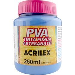 Tinta PVA Fosca para Artesanato Acrilex 250mL Azul Country