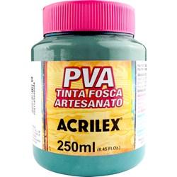 Tinta PVA Fosca para Artesanato Acrilex 250mL Azul Piscina