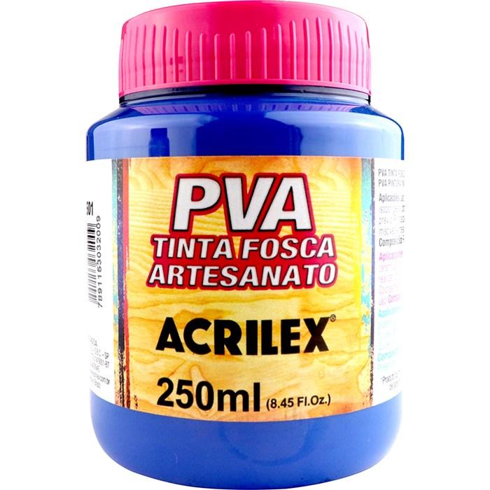 Tinta PVA Fosca para Artesanato Acrilex 250mL Azul Turquesa