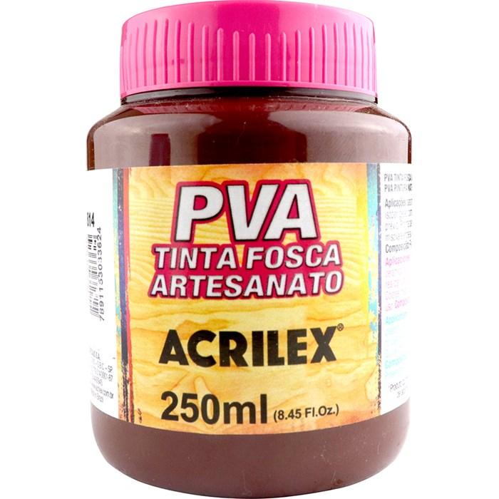 Tinta PVA Fosca para Artesanato Acrilex 250mL Chocolate
