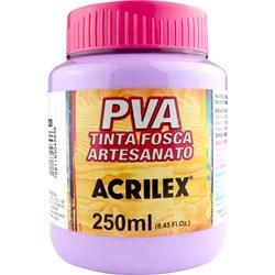 Tinta PVA Fosca para Artesanato Acrilex 250mL Lilás