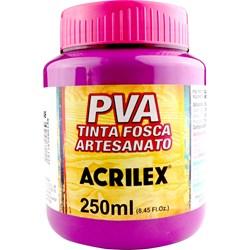 Tinta PVA Fosca para Artesanato Acrilex 250mL Magenta