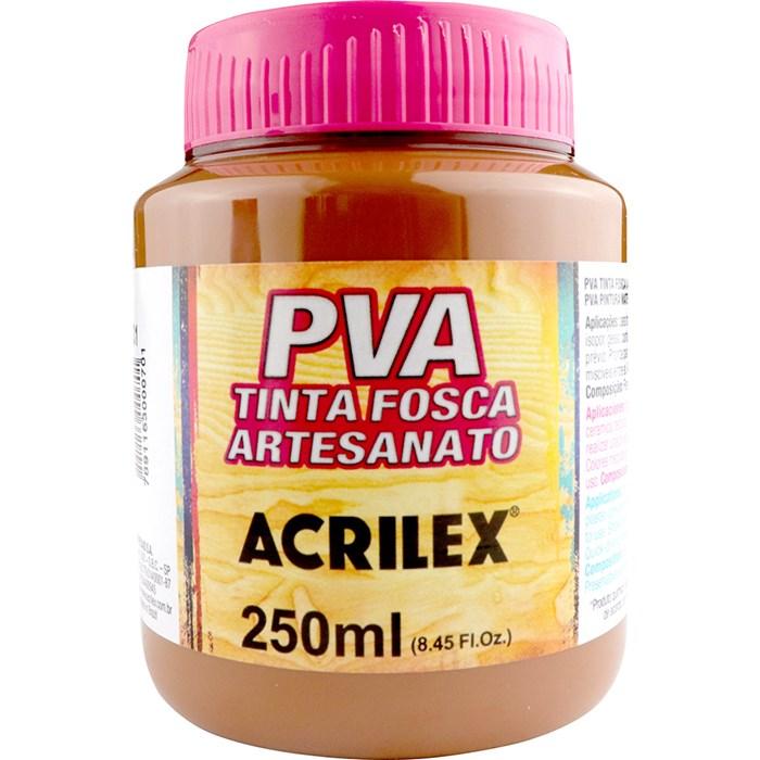 Tinta PVA Fosca para Artesanato Acrilex 250mL Marrom