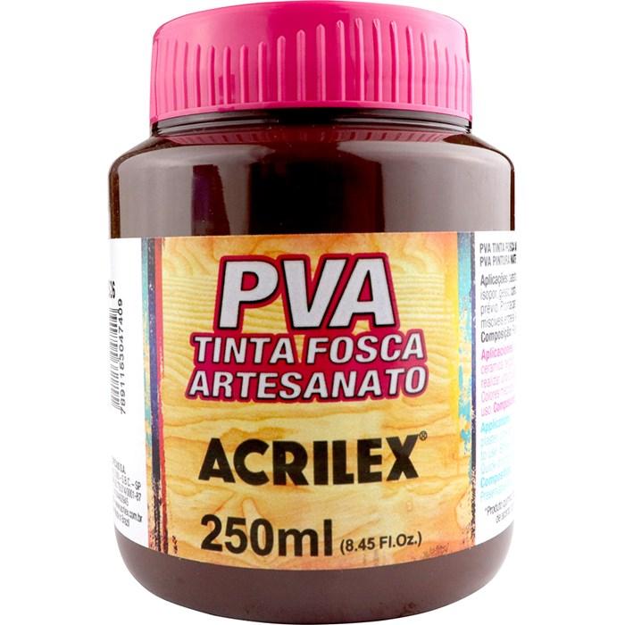 Tinta PVA Fosca para Artesanato Acrilex 250mL Marrom Escuro