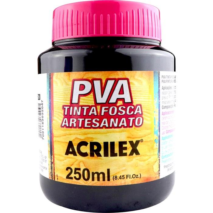 Tinta PVA Fosca para Artesanato Acrilex 250mL Preto