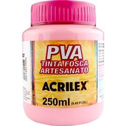 Tinta PVA Fosca para Artesanato Acrilex 250mL Rosa