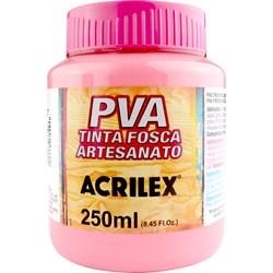 Tinta PVA Fosca para Artesanato Acrilex 250mL Rosa Chá