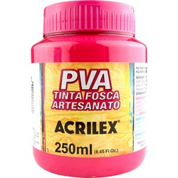 Tinta PVA Fosca para Artesanato Acrilex 250mL Rosa Escuro