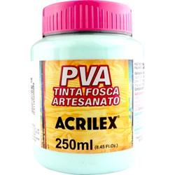 Tinta PVA Fosca para Artesanato Acrilex 250mL Verde Água