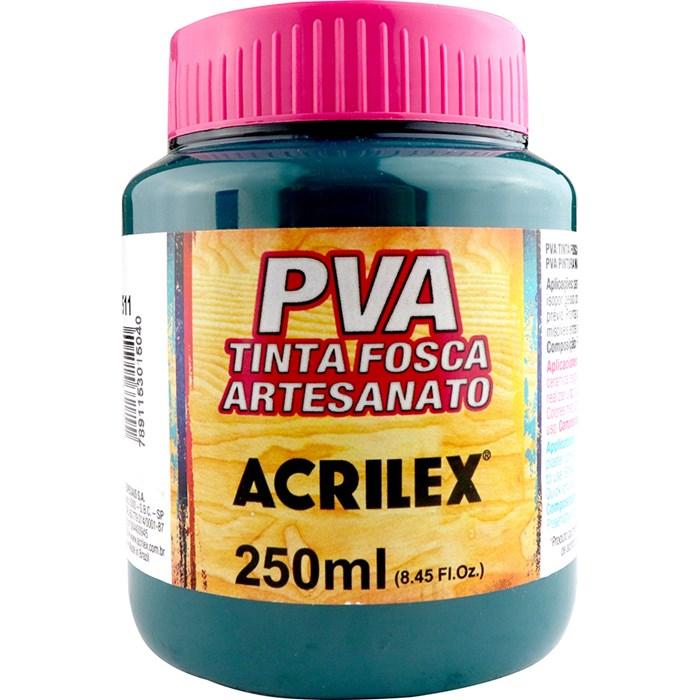 Tinta PVA Fosca para Artesanato Acrilex 250mL Verde Bandeira