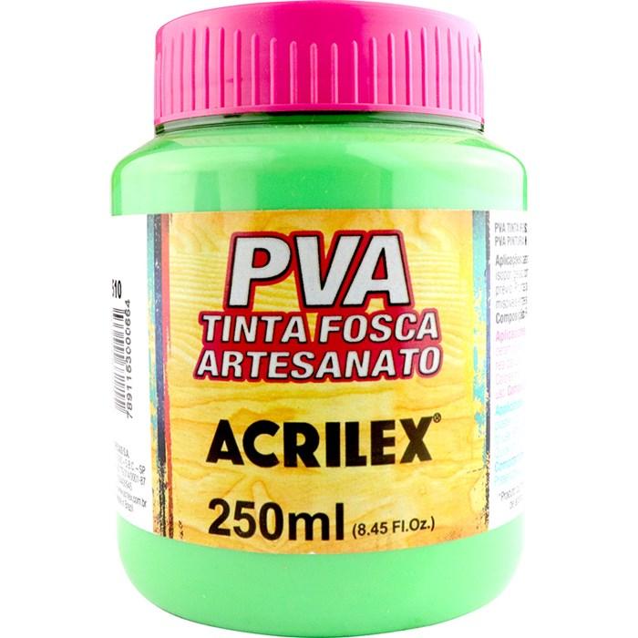 Tinta PVA Fosca para Artesanato Acrilex 250mL Verde Folha