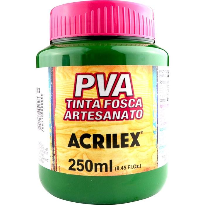 Tinta PVA Fosca para Artesanato Acrilex 250mL Verde Musgo