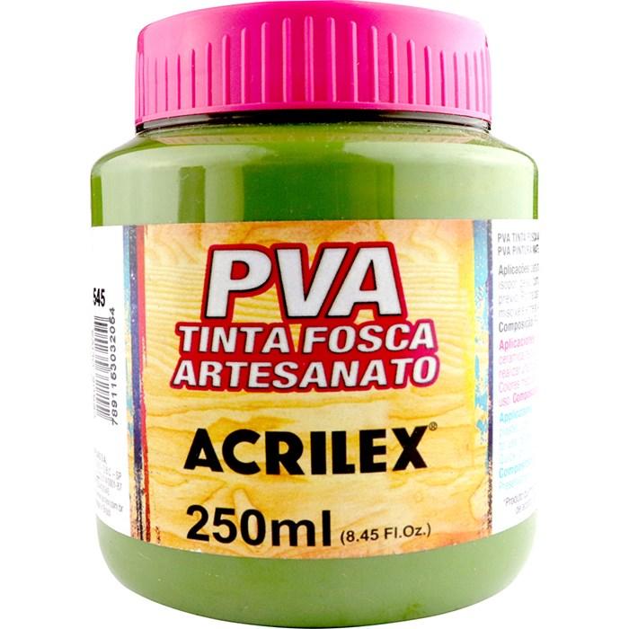 Tinta PVA Fosca para Artesanato Acrilex 250mL Verde Oliva